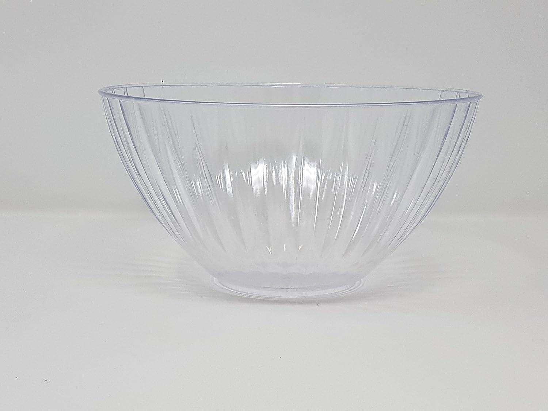 60oz Black Pack of 3 Plastic Salad Bowls//Serving Bowls//Kitchen Bowls Set