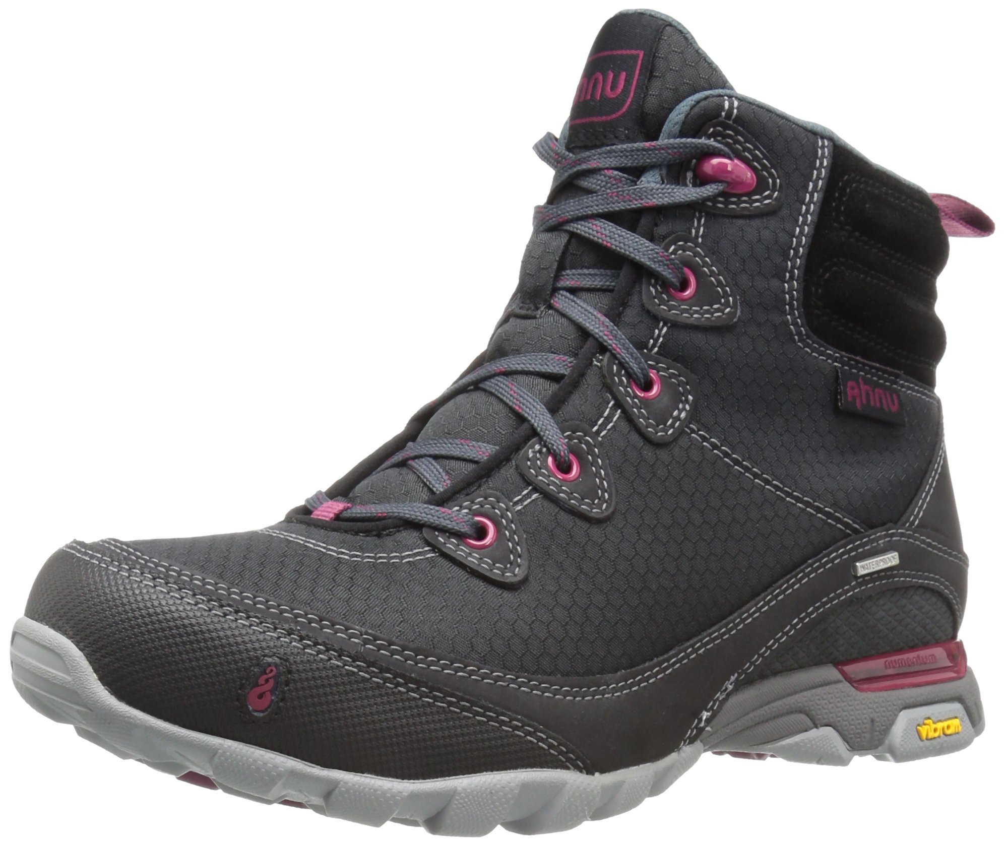 Ahnu Women's W Sugarpine Waterproof Hiking Boot, Black Basic, 7.5 M US