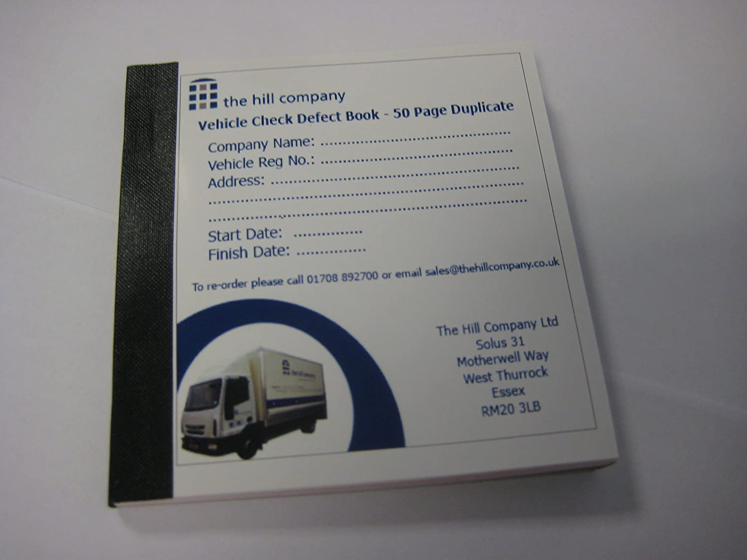 50 Page Duplicate Vehicle Check /& Defect Report Book