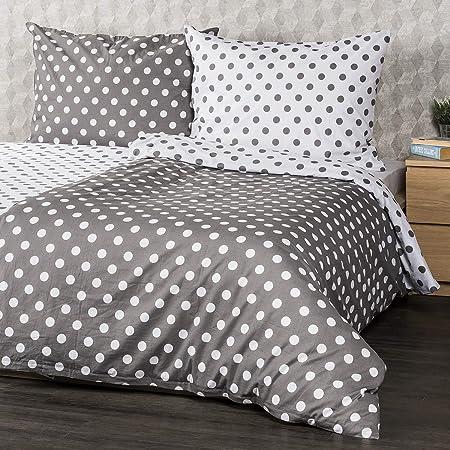 4Home - Juego de sábanas (100% algodón, 160 x 200 cm), Color Gris ...