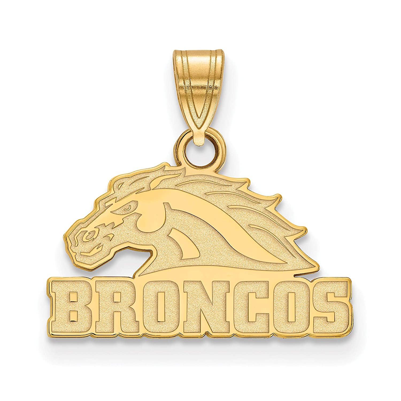 10k Yellow Gold Western Michigan University Broncos Mascot Head Pendant 13x15mm