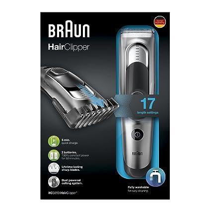 Braun HC5090 Tagliacapelli con 17 Regolazioni di Lunghezza  Amazon ... b2632bc1b28b