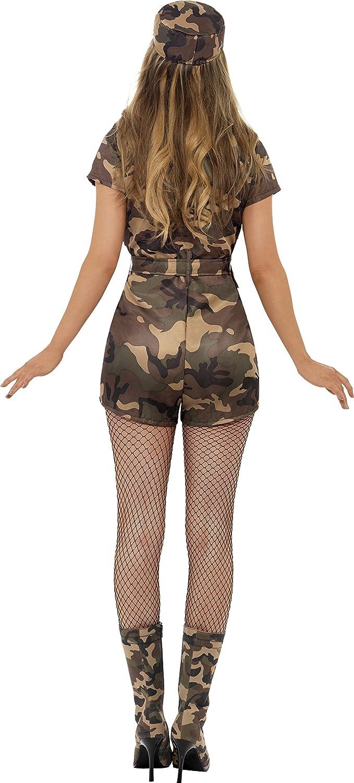 mimetico con tutina cintura e cappello SMIFFYS Costume ragazza dellesercito sexy