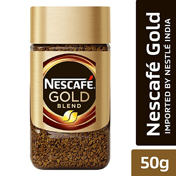 Nescafe Gold Rich and Smooth Coffee Powder, 50g Glass Jar
