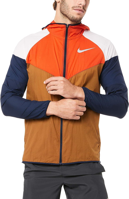 Nike Men's Windrunner Running Jacket, Ale Brown/Team Orange/Reflective Sliver (ALE Brown/Team Orange/Reflective SILV, X-Large) : Clothing