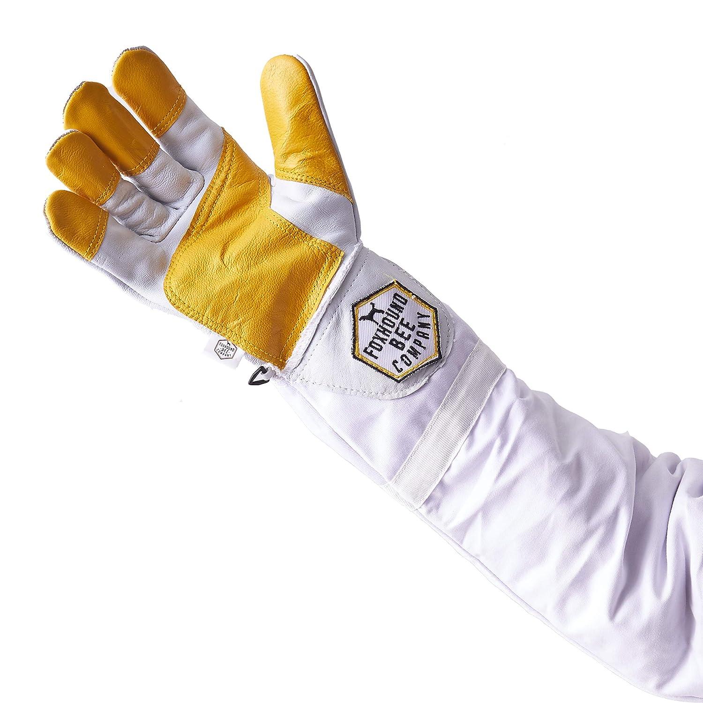 50cm Protective Beekeeping Bee Keeping Vented Long Sleeves Gloves GoatskiODCA