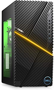 New Dell G5 Gaming Desktop, Intel Core i7-10th Gen, Nvidia GeForce GTX 1660 Super 4GB GDDR6, 512GB SSD Storage, 16GB RAM, Black (i5000-7439BLK-PUS)