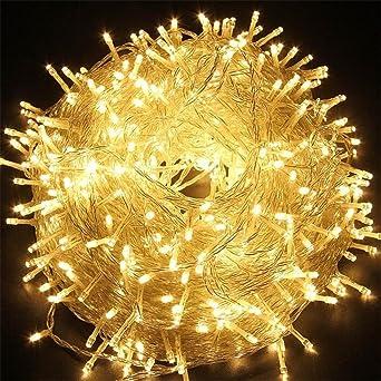 luces de navidad,MUTOUREN Cadena luces LED 100 bombillas y 10m Alambre Resistente Agua,