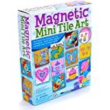 4M 4563 Magnetic Mini Tile Art - DIY Paint Arts & Crafts Magnet Kit for Kids - Fridge, Locker, Party Favors, Craft Project Gi