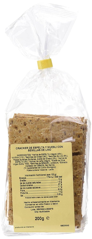 Sol Natural Crackers Espelta con Muesli y Semillas Bio -2000gr: Amazon.es: Alimentación y bebidas