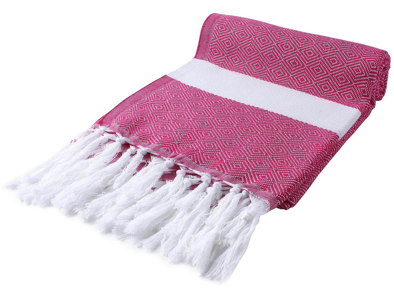 Cacala Peshtemal Turkish Hammam Towel 37x67 100% Cotton Fushia - Ideal for the beach and by the pool they appeal to all ages. Size: 100 x 170 cm ( 37 x 67 inches) - Material: 100% Pure Cotton A favourite of fashionistas, athletes, moms, surfers and alike. - bathroom-linens, bathroom, bath-towels - 81YKaCO6TpL -