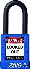 ZING RecycLock Safety Padlock, Keyed Alike, Keyed Alike, Azul