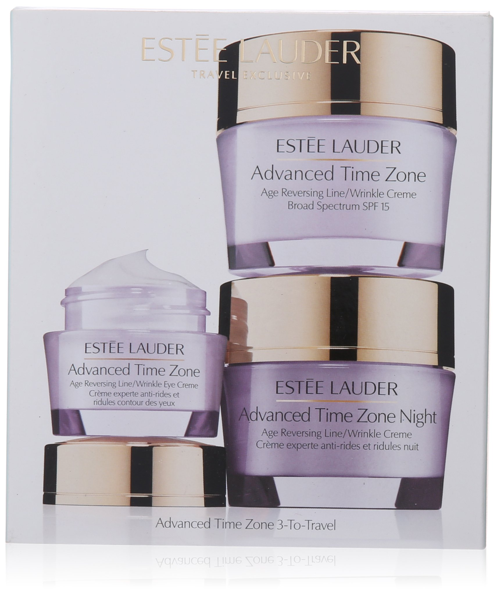 Estee Lauder 3 Piece Advanced Time Zone 3 to Travel Kit for Unisex