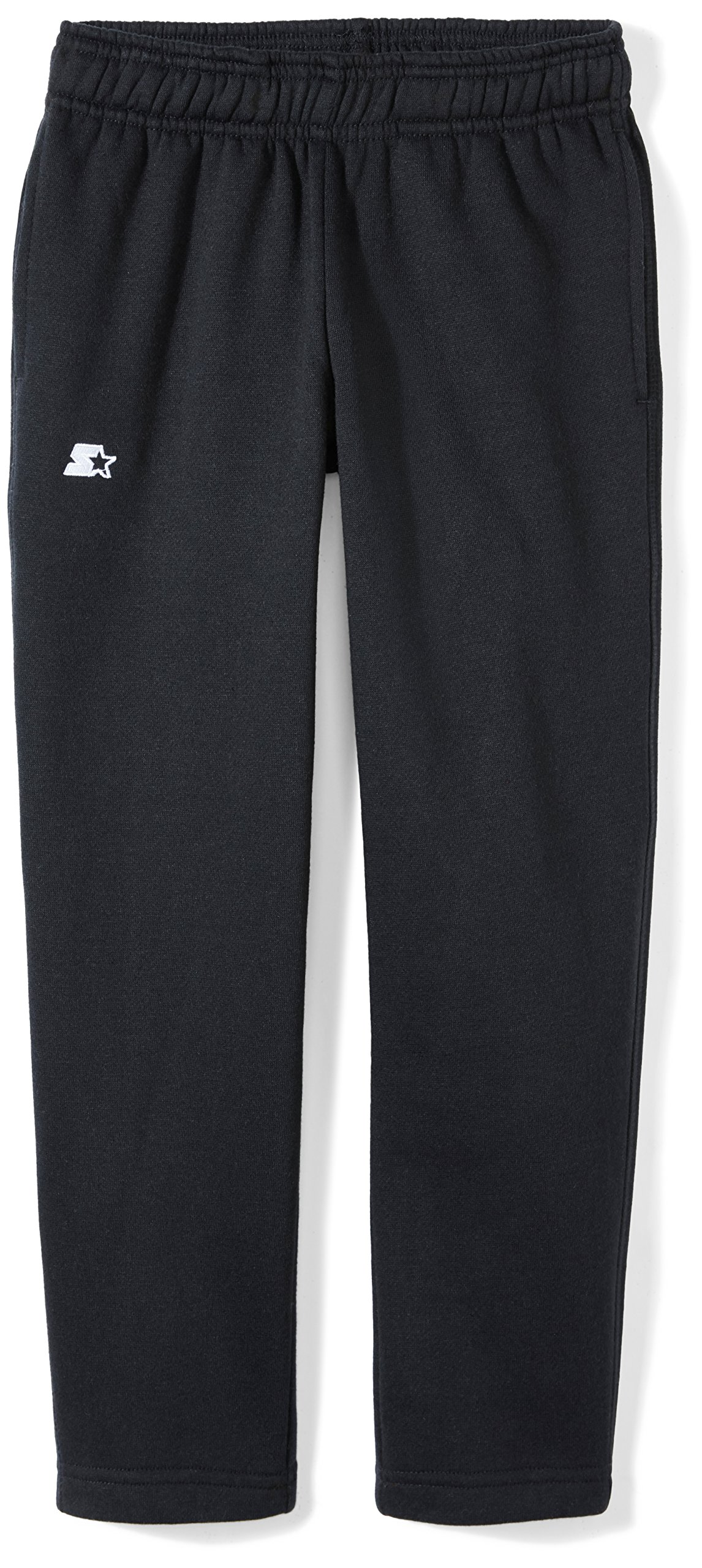 Starter Girls' Open-Bottom Sweatpants with Pockets, Prime Exclusive, Black, XL (14/16)