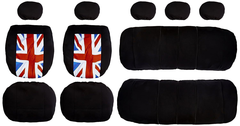 BANCAREL HSTD Sublim TUA Zip British Protection de Si/ège Housse Auto Universelle Noir