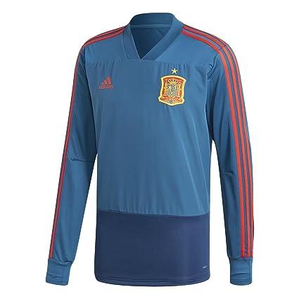 Amazon.com   adidas 2018-2019 Spain Training Top (Blue)   Sports ... e1c4f75f6