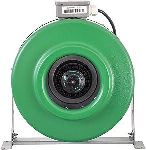 Hydrofarm ACDF8 Active Air Inline Fan, 8 Inch, Green