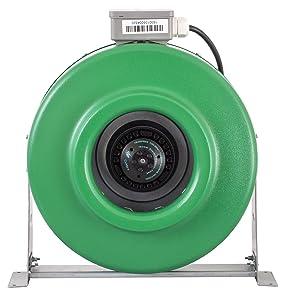 Hydrofarm ACDF8 Active Air Inline Fan, 8 Inch green