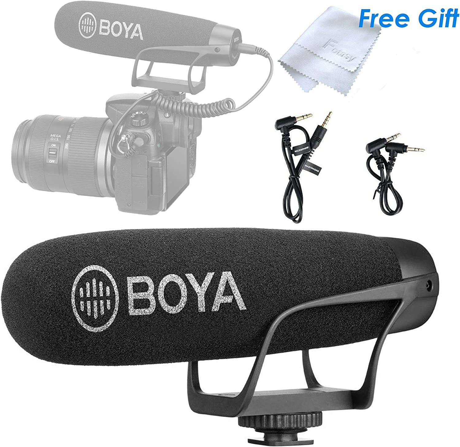 Boya BY-DM2 USB-C Omni directional Lavalier Microphone for Android Smartphones Clip-on Mic for Type-C Phone Tablet Samsung Galaxy Note 10 9 8 S10 S9 Huawei Mate 10 Plus Xiaomi LG Google Pixel 6M Cab