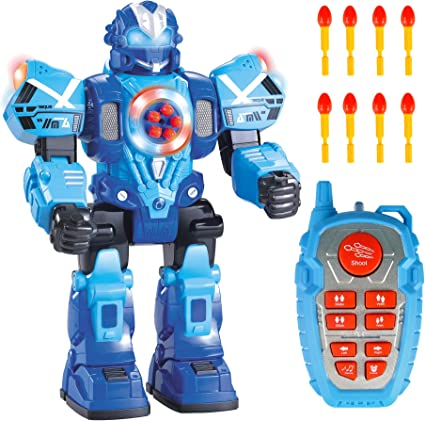 Great Action Toy for Boys Large Version WolVol 10 Channel Remote Control Robot Police Toy with Flashing Lights and Sounds