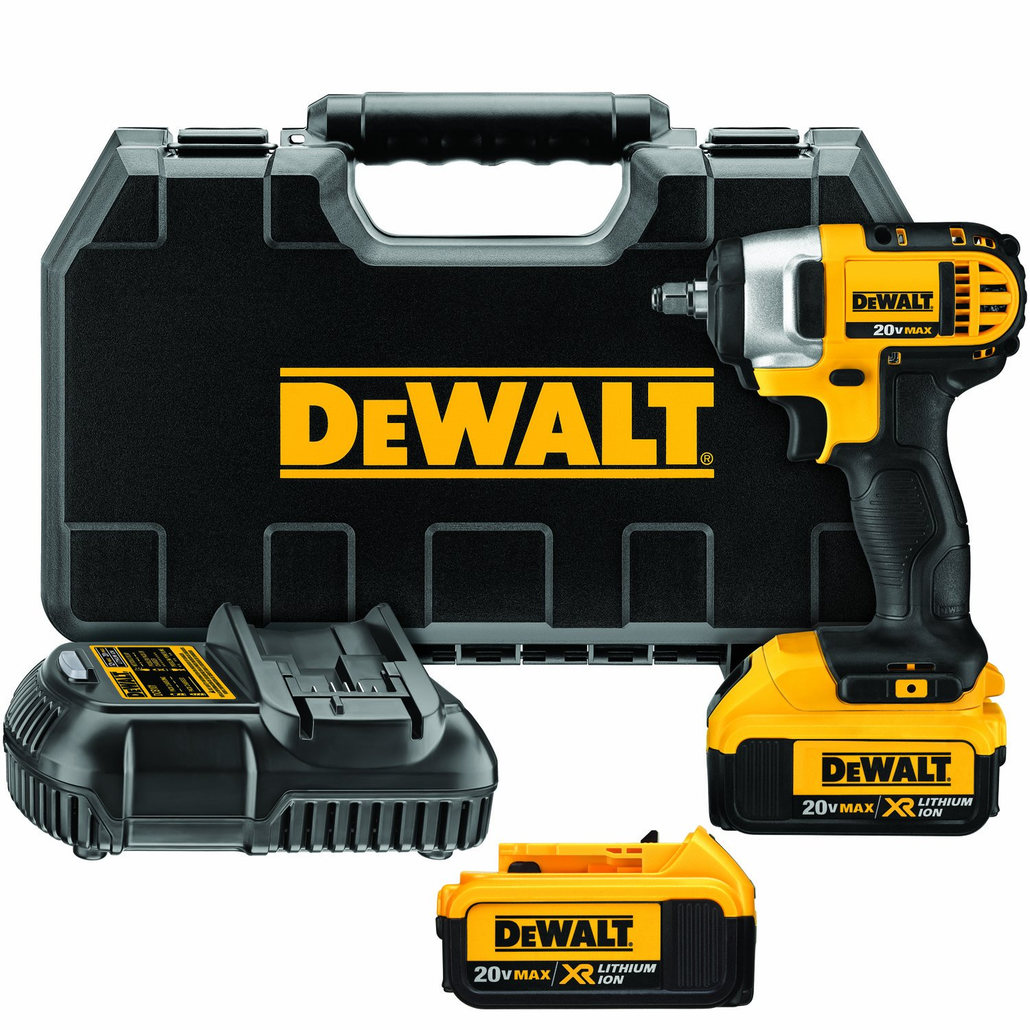 DEWALT DCF883M2 20-volt MAX Lithium Ion 3/8-Inch Impact Wrench Kit with Hog Ring by DEWALT