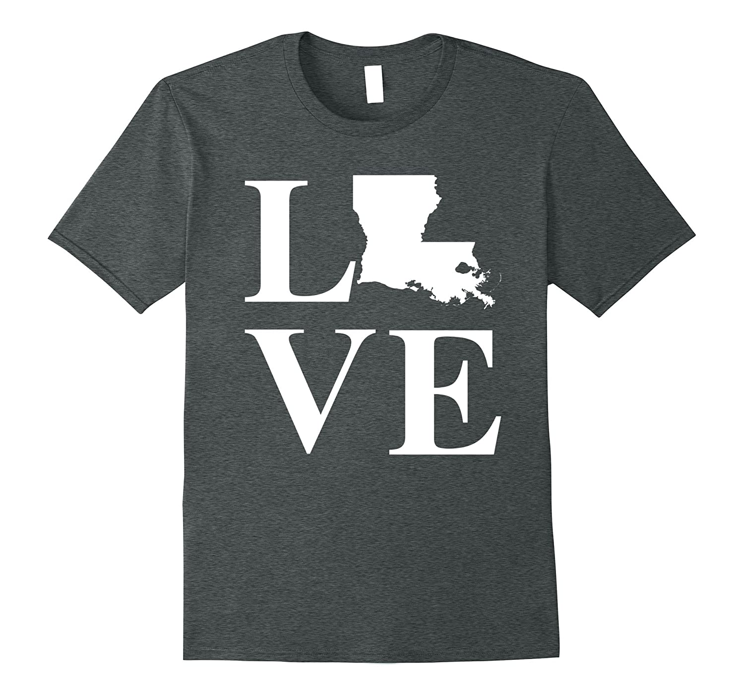 Love Louisiana Shirt: Native Born State Heart T-Shirt-4LVS