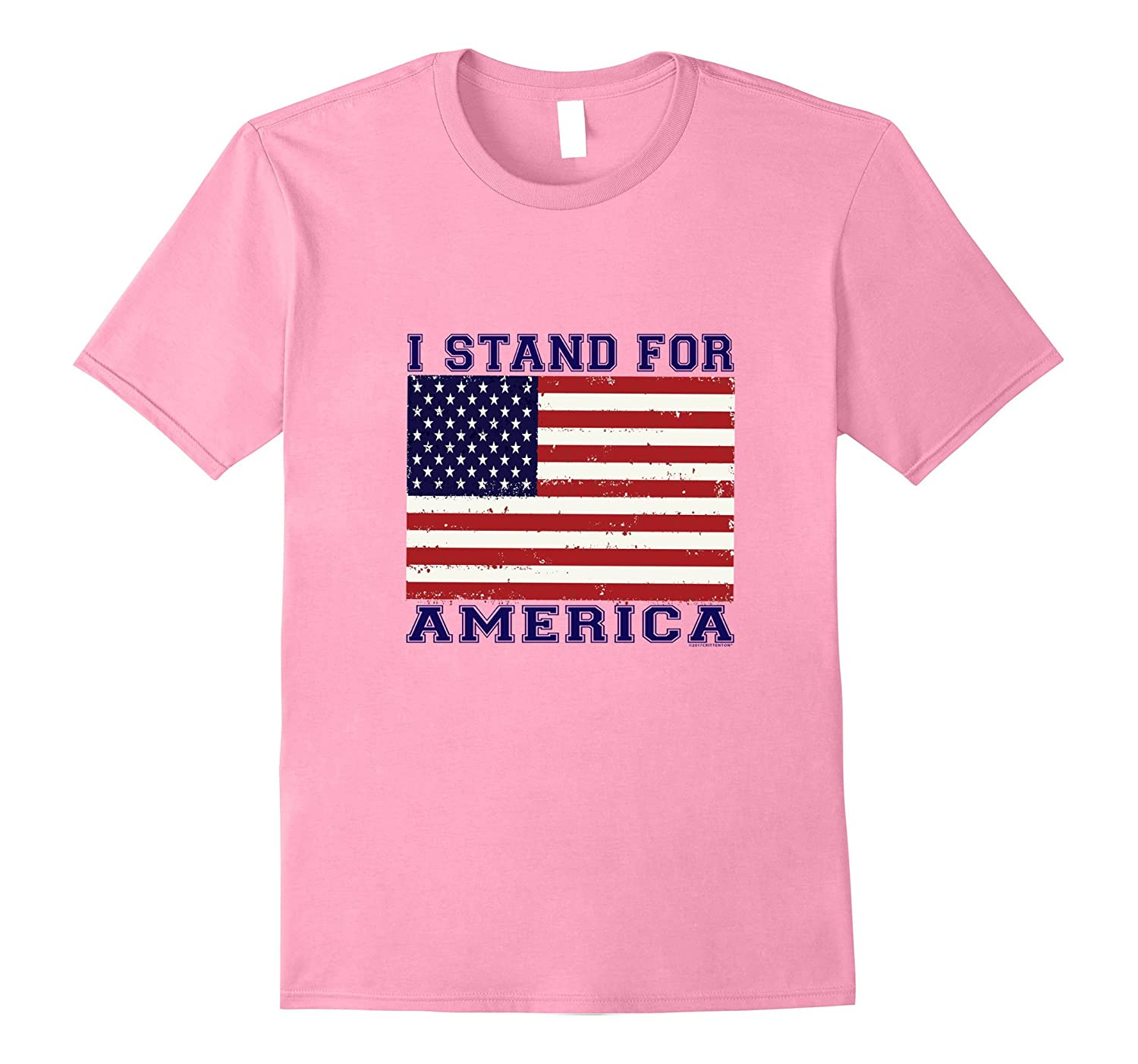 I STAND FOR AMERICA FLAG T-SHIRT-TJ