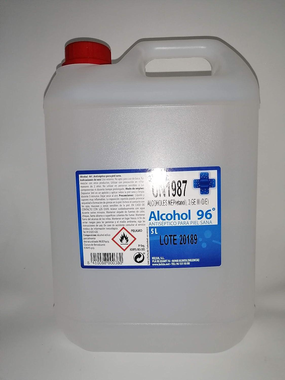 Alcohol 96º 5 litros