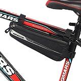 MOREZONE Bicicletta Borse Triangolo per MTB BMX Bici Borsa tubo impermeabile Borse Telaio Bicicletta Materiale jacquard morbido (1.5L 32x14x5cm)