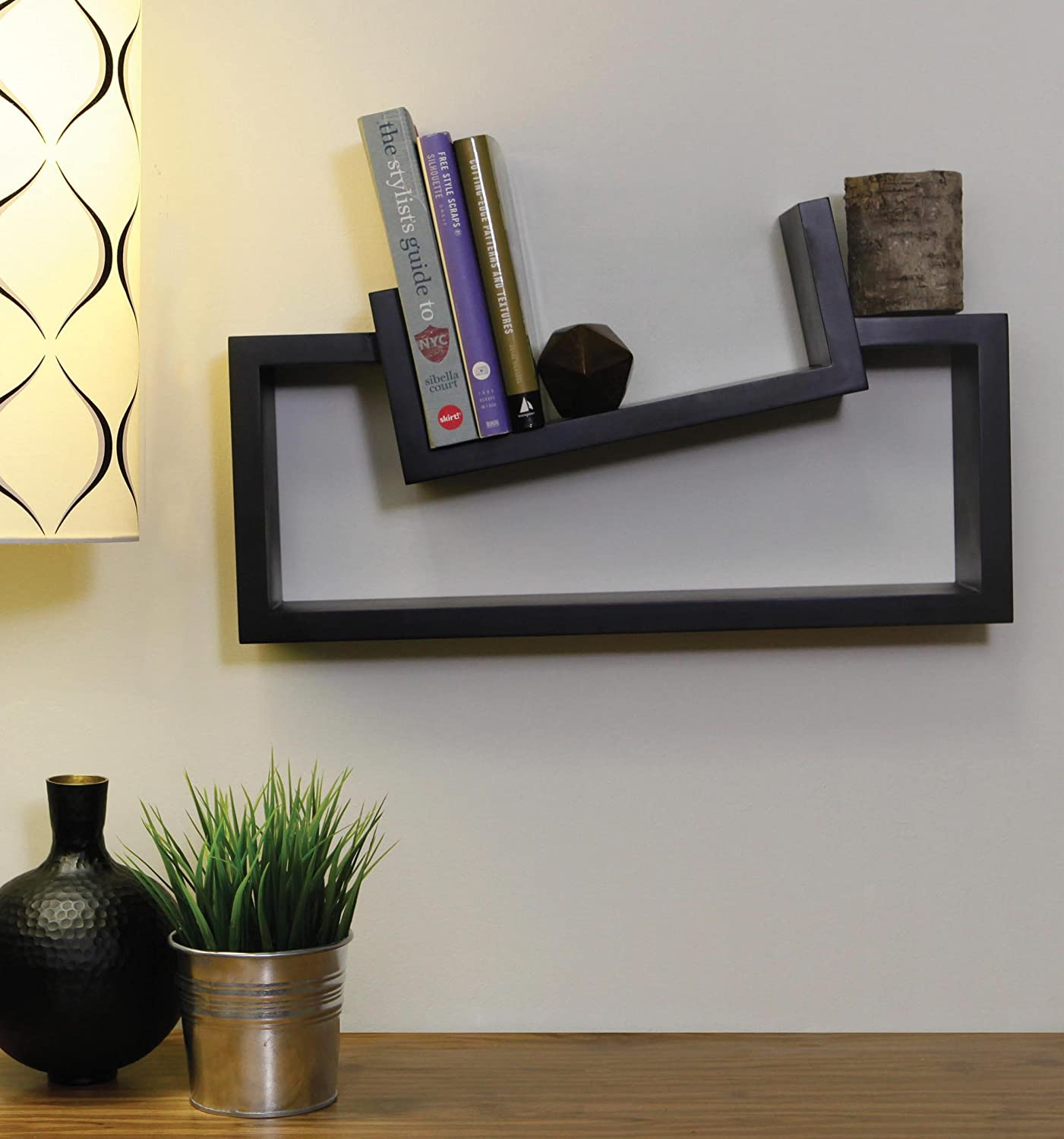 nexxt Slant Wall Shelf, 11 by 20-Inch, Black Nexxt Design FN01160-3