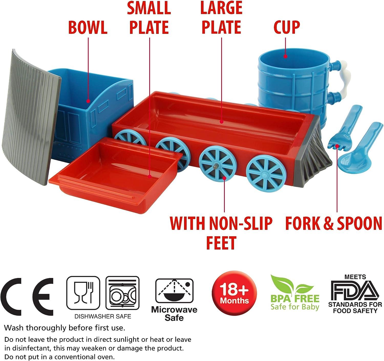 Kindergarten Cartoon Plate Cup Bowl Baby Tableware Set Anti-slip Dinnerware Oy