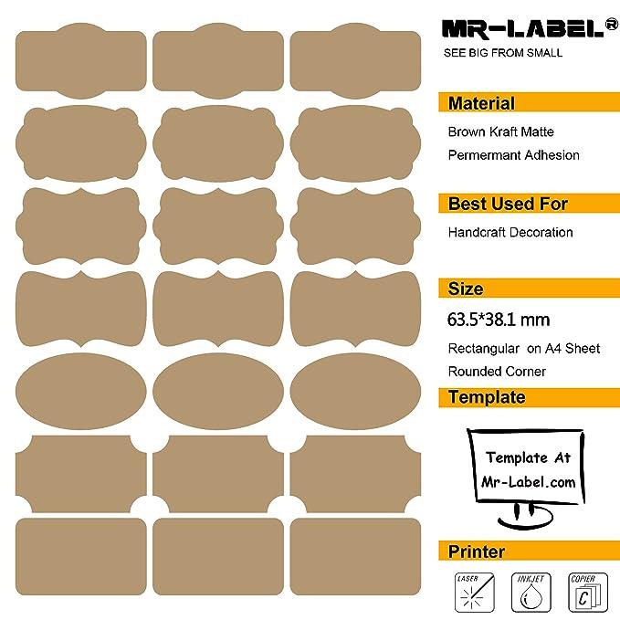 Amazon.com: mr-label ® 7 tipos de Fancy forma café Kraft ...