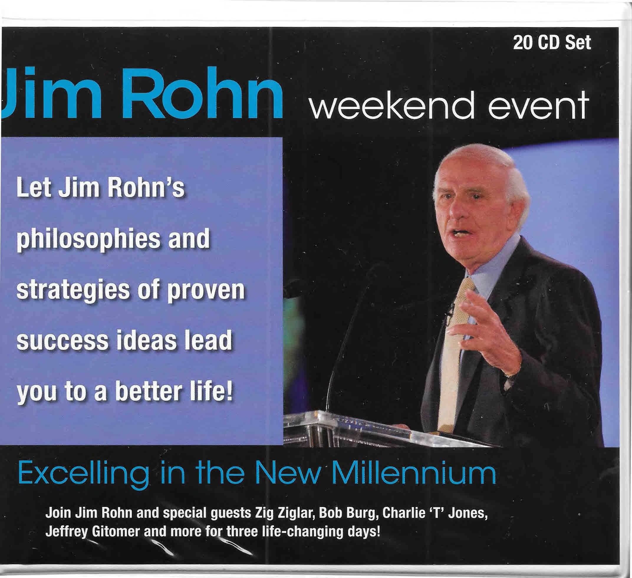 Jim Rohn Weekend Event: Excelling in the New Millennium ...