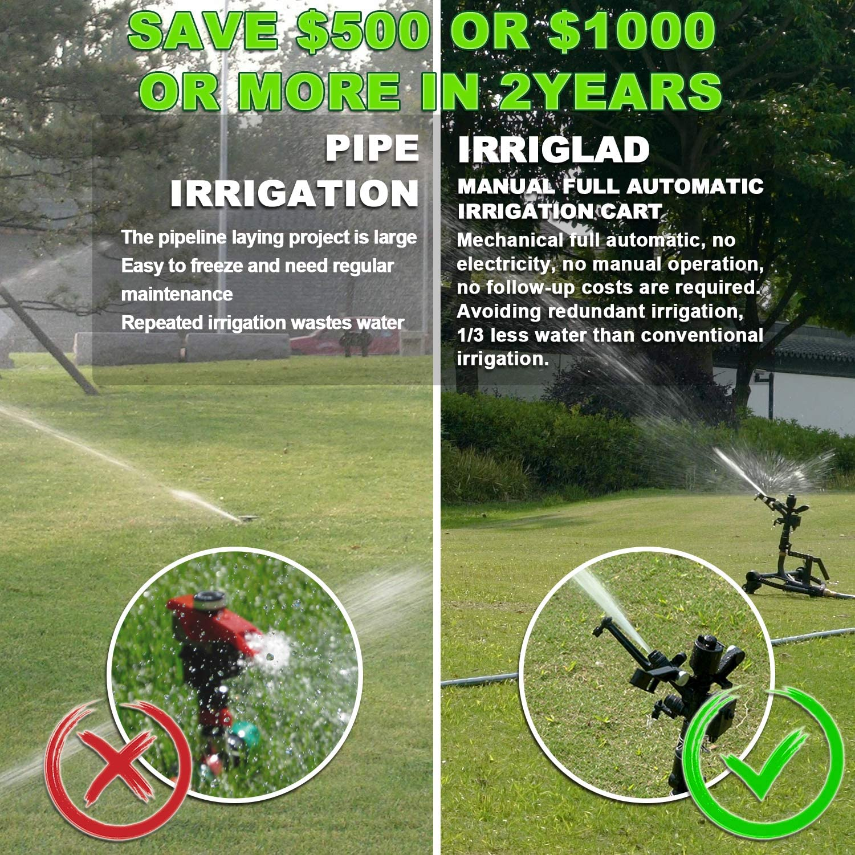 IRRIGLAD Mechanical Fully Automatic Irrigation Garden Hose Reel ...