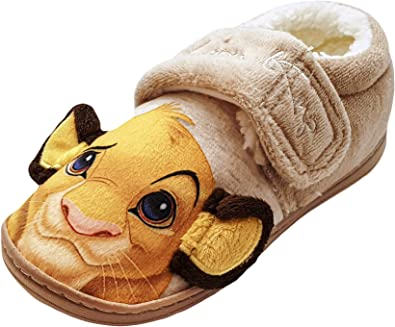 Disney Store The Lion King Simba Slipper Soft Shoes Boys Kids Size 7//8 9//10 NEW