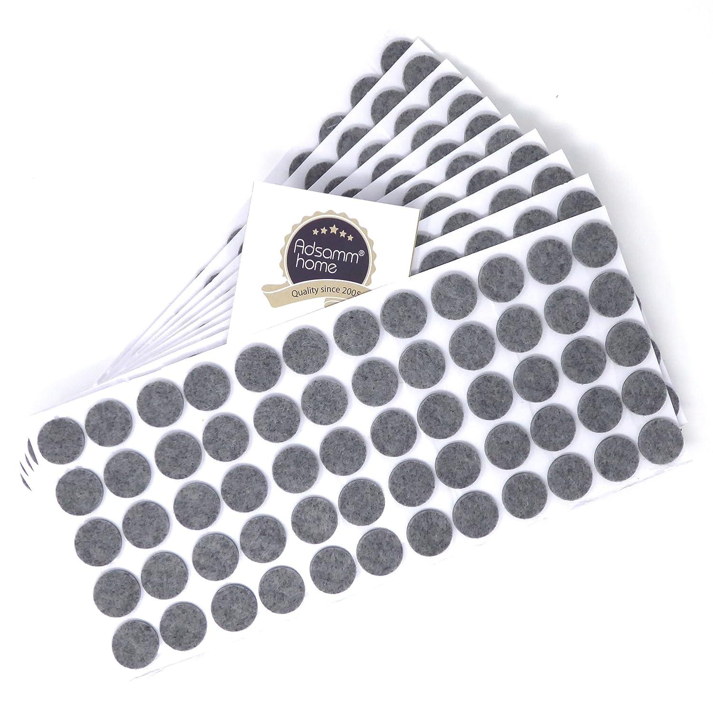 /Ø 20 mm rund 3.5 mm starke selbstklebende Filz-M/öbelgleiter in Top-Qualit/ät Adsamm/® 300 x Filzgleiter Grau