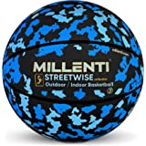 Millenti Camo Basketball Ball Street-Wise - Camouflage Basketballs Outdoors-Indoors Regulation Official Size 7, Size 6, Sizes 5