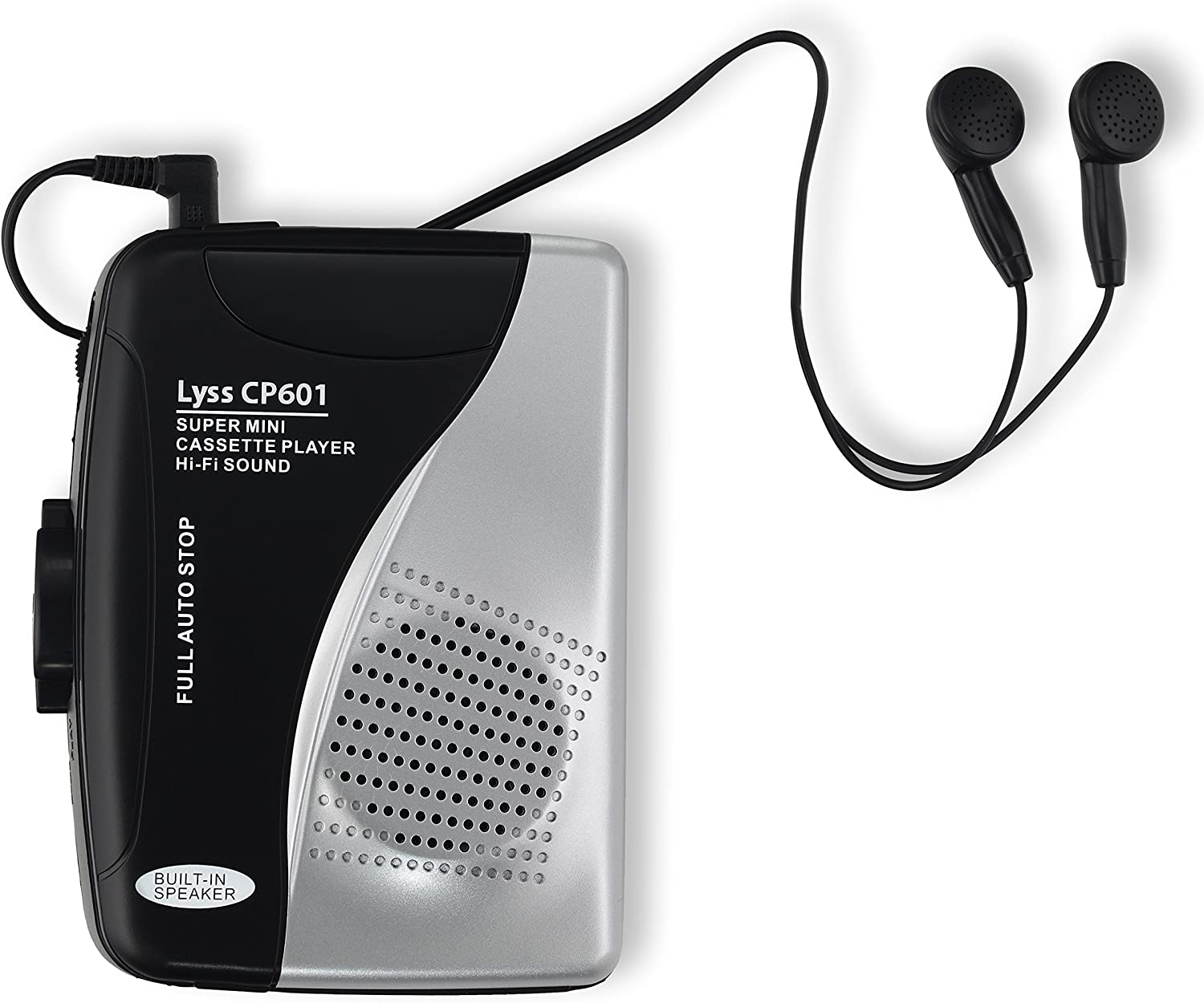 Lyss Electronics CP601 Portable Cassette Player with Speaker