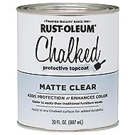 Rust-Oleum 287722 Ultra Matte Interior Chalked Paint 30 oz, Clear