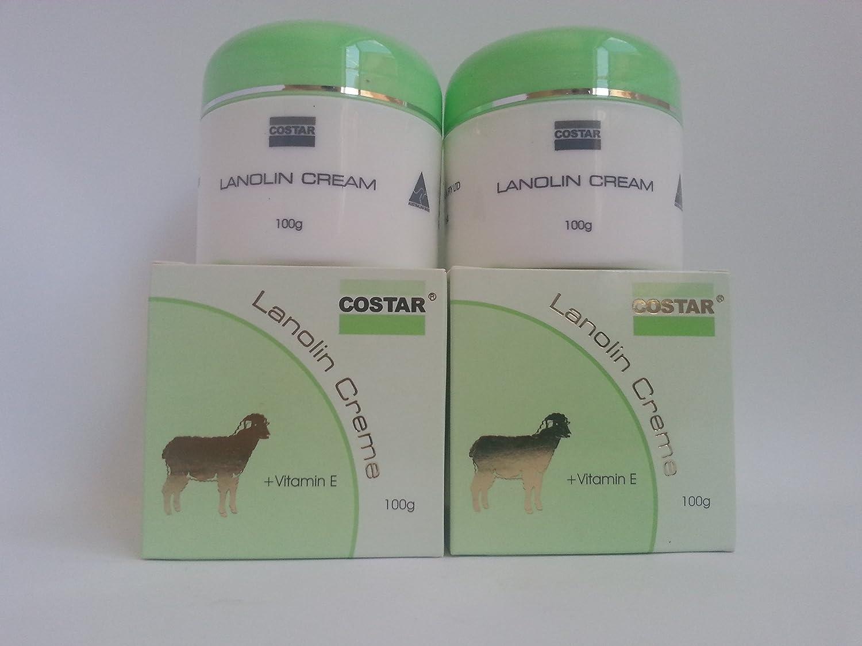 2xCostar Lanolin Cream plus Vitamin E Made in Australia