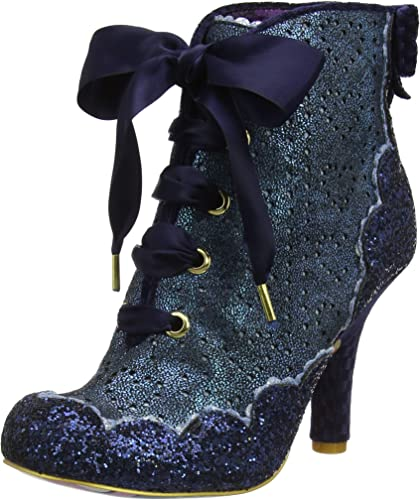 Irregular Choice /'/'Chinese Whispers/'/' Mid Heel Lace Up Ankle Boots Shoes