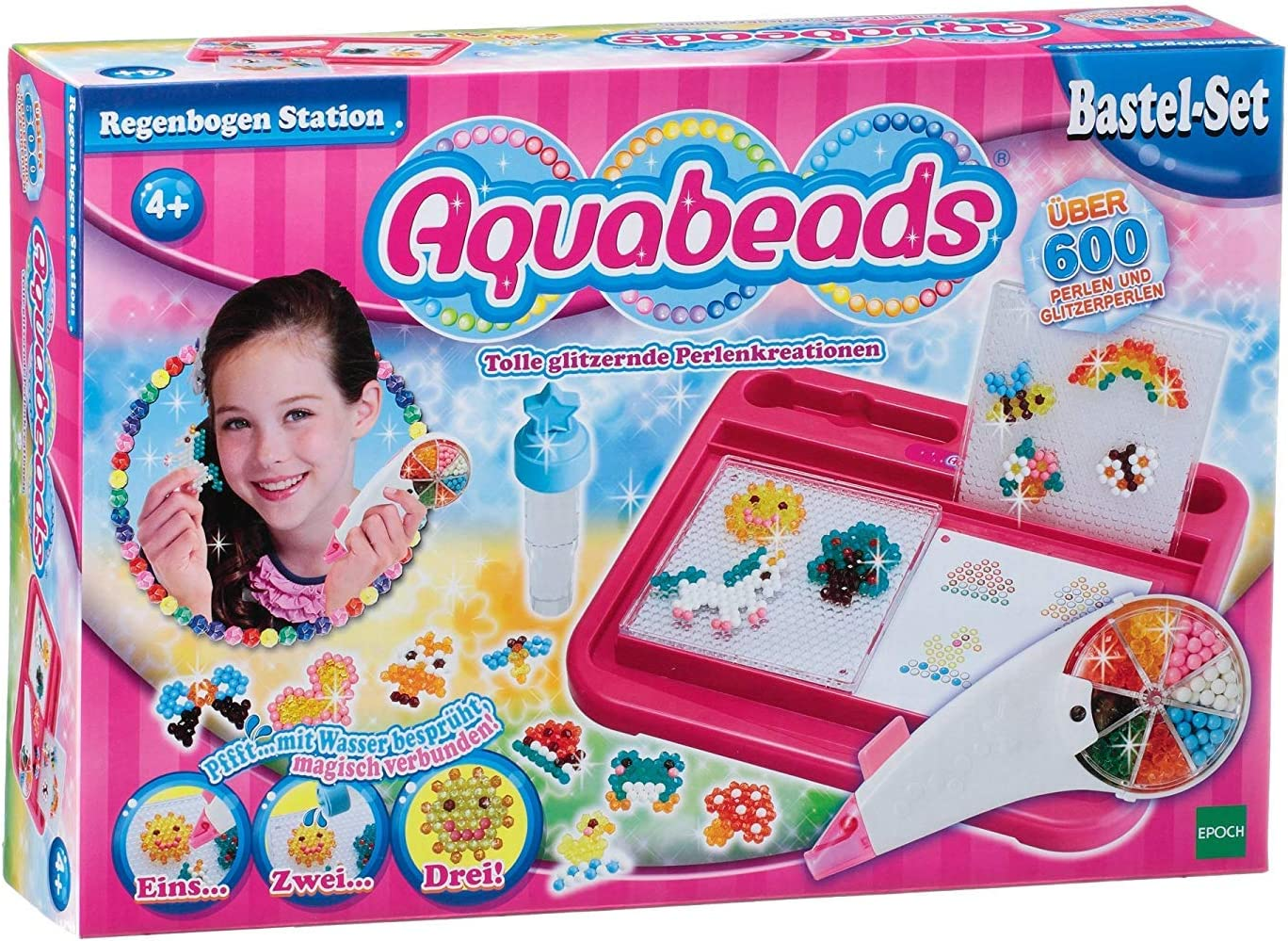Aquabeads 79318 Kit de joyería para niños - Kits de joyería para niños (Juego de Perlas, 4 año(s), 600 Pieza(s), Multicolor, Niño, Chica): Amazon.es: Juguetes y juegos