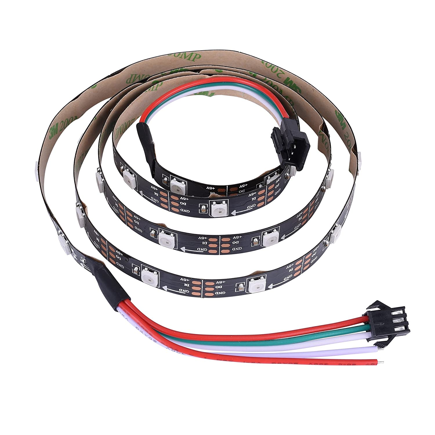 Amazon.com : INVOLT WS2812B LED Strip Addressable Programmable 30LED ...