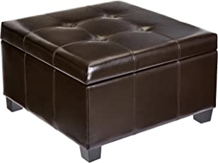 First Hill WFO098BR Modern Storage Ottoman Brown  sc 1 st  Amazon.com : colored ottomans with storage  - Aquiesqueretaro.Com