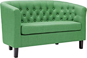 Modway Prospect Upholstered Contemporary Modern Loveseat In Kelly Green