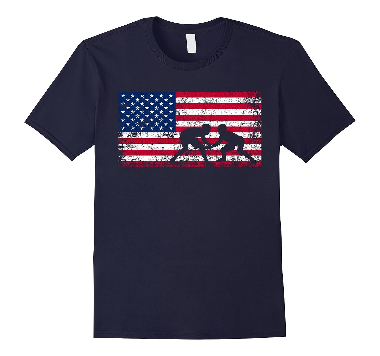 American Flag Wrestling T-shirt Wrestling Gift-FL