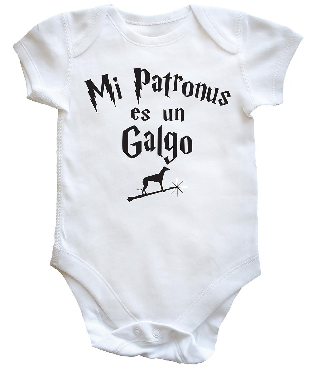 HippoWarehouse Mi Patronus es un Galgo body bodys pijama niños niñas unisex: Amazon.es: Ropa y accesorios