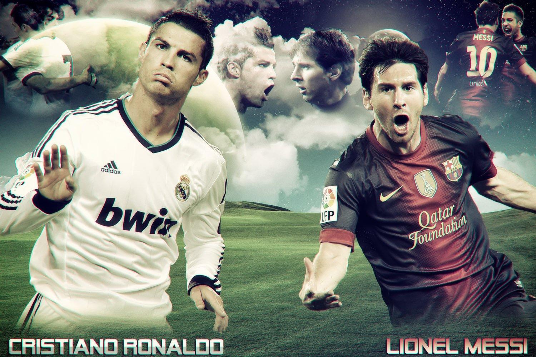 Lionel Messi Vs Cristiano Ronaldo Soccer Poster 24x36 E Money Posters Prints