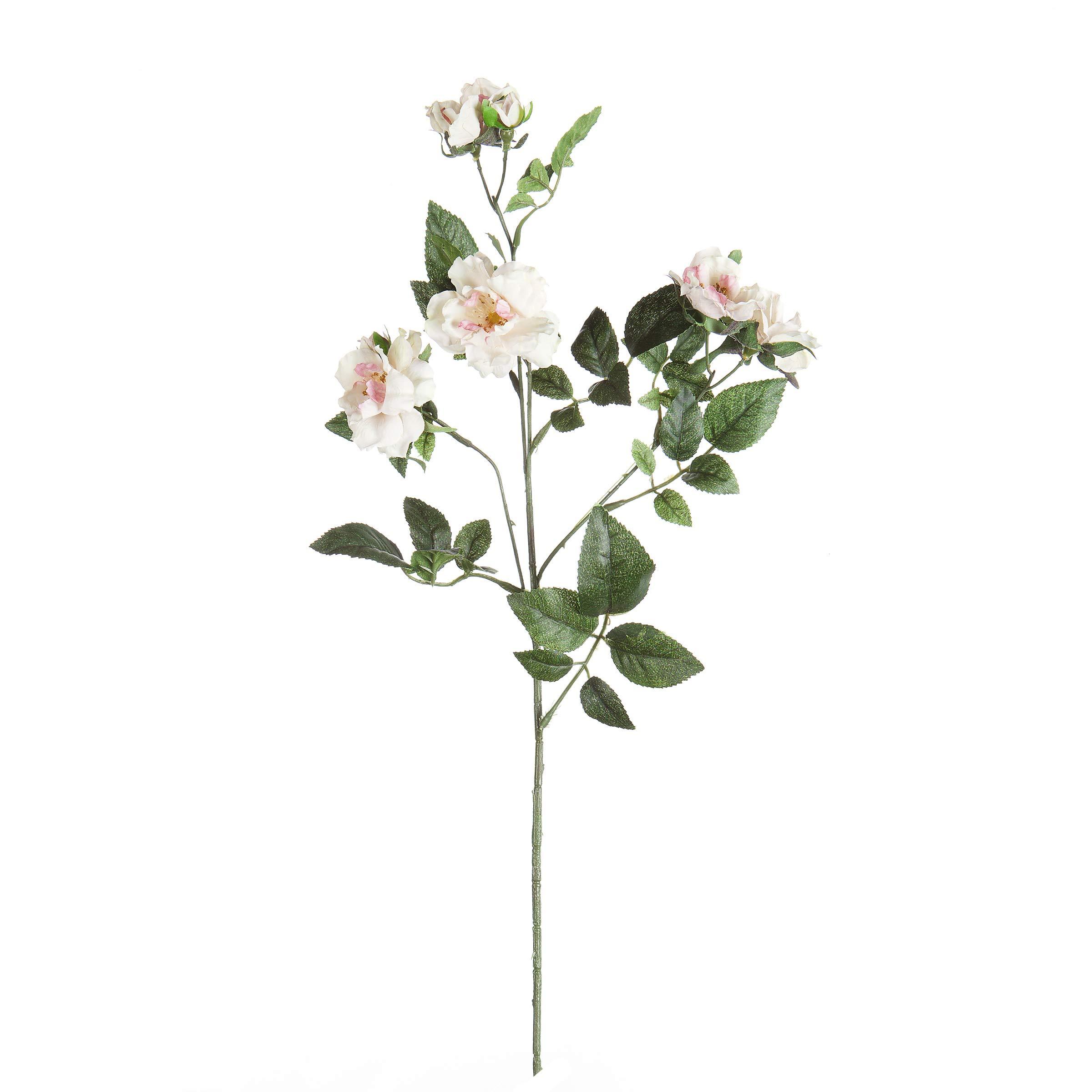 Darice SQ14G5011-AL200 Everyday Long Stem Wild Rose Spray, 31'', Cream Pink