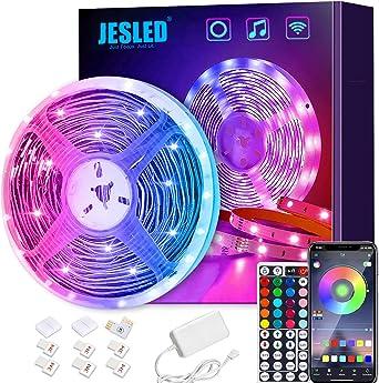 Tiras LED Wifi, JESLED 5M Tira de LED RGB Compatible con Alexa, Google Home, App, LED Tira Luz Sincronización de Música, Perfecto para Navidad, Fiesta, Decoración Doméstico para Hogar: Amazon.es: Iluminación